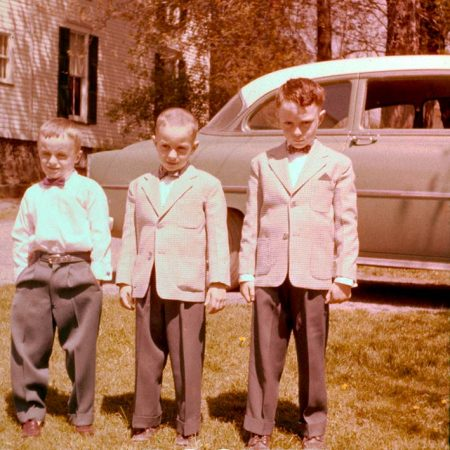 Three Boys In New Suits
