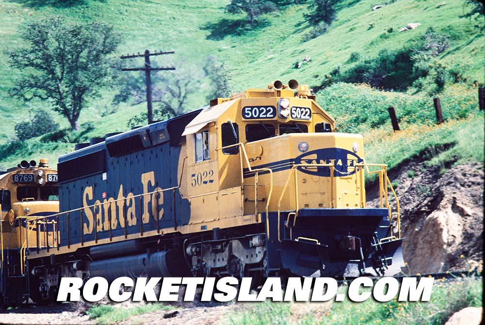 AT&SF SD40-2 5022 at Caliente
