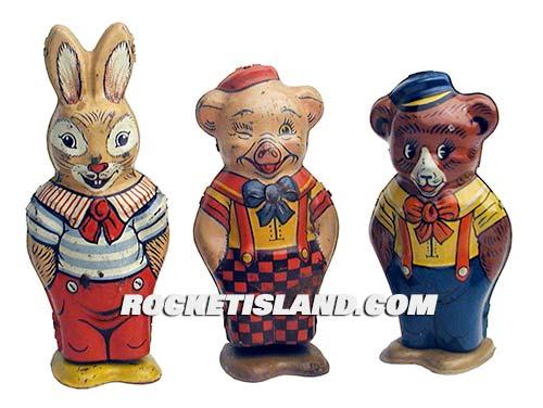 Rabbit, Pig and Bear Mechanical Walkers